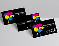 Business Cards for Pinturas Auria