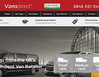 Website Redesign (UI) www.vansdirect.co.uk/
