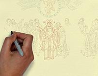 Set of animated infographics on festive iconography