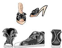 Shoes by Designer Perry Uwanawich
