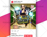 Back to School Party – Animated Flyer PSD Template