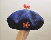 Handmade wool felt hats