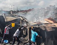 Fire in Soweto West - Kibera