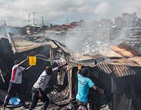 Fire in Soweto West - Kibera