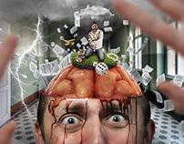 Illustration: Pink Floyd - Brain Damage