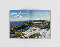 Magazine page - Hiking Theme