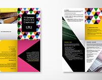 Cuadríptico - XV Certamen Anuario de la Creatividad