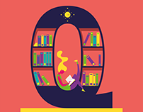Keep Quiet ! The library illustration