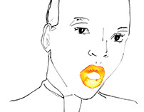 ASOS Magazine fashion illustrations