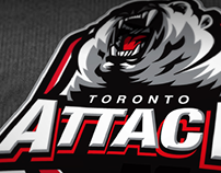 "Toronto Attack Junior ""A"" hockey club logo design"