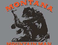 Montana Mountain Man t-shirt Graphics