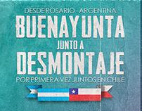 Flyer BUENAYUNTA y DESMONTAJE en Chile