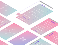 Interface design concept for a meditation mobile app