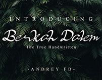 Free Berkah Dalem Handwritten Font