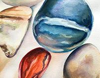 Polished Rocks Study #1