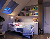 Bedroom 3D visualization for San Antonio project