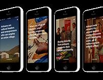 GlobeIn App Discover Screens