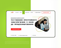 Landing Page for IT school.