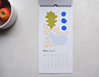 Illustrated calendar 2017