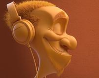 Headphone dude