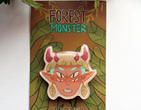 Forest Monster pin