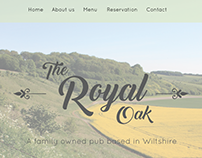Website concept for portfolio - The Royal Oak