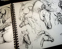 .Sketches of Horses.