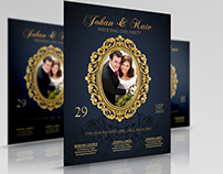 Wedding Party Flyer Template Vol.5