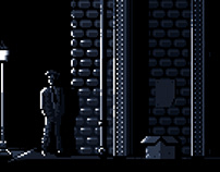 Pixel Film Noir Scene