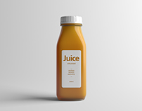 Juice Bottle Packaging Mock-Up