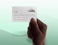 Free PSD hand holding credit card mockup_2