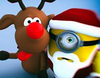 Minion Santa Selfie