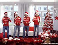 Santander Fórmula 1 Merry Christmas