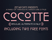 Cocotte Typeface Family - WITH 2 FREE WEIGHTS