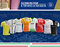 Italian political parties jersey