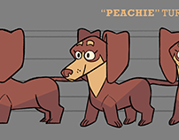 """Peachie"" Character Design Materials"