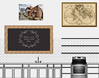 Schoolhouse Kitchen Rendering