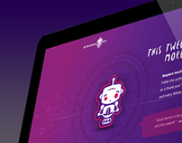 KarmaBot Logo and Landing page