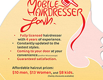 Hairdresser flyers