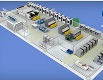 Industrial laundry 3d planimetry