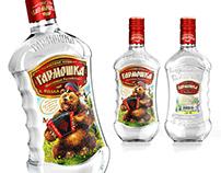"Vodka ""Гармошка"". Label and bottle design."