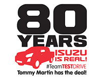 TOMMY MARTIN 80 YEARS ISUZU LOGO DESIGNS