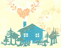 Old House Linocut
