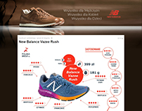 New Balance page layout