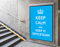 """OfficeTeam   """"Keep Calm"""" poster and flyer"""
