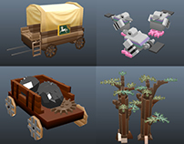 Game Art: LEGO Lord of the Rings Smashable Props.