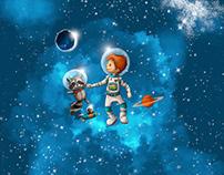 Kleiner Astronaut  | fabric design