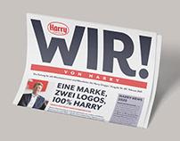 EDITORIAL DESIGN: Employee Newspaper »WIR! von Harry«
