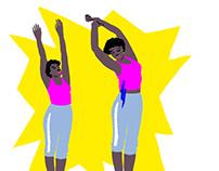 Yoga Poses for Brigitte Magazin