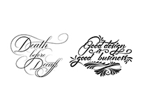 Calligraphy & Lettering client work
